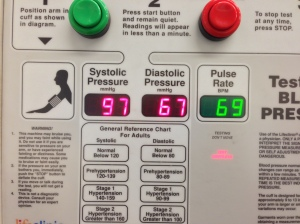 Blood Pressure reading 10/13
